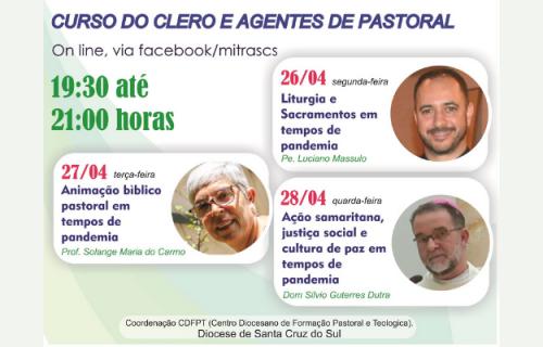 Diocese promove Curso do Clero e Agentes de forma online