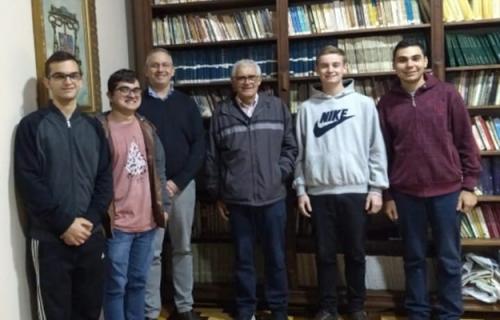 Seminaristas se informam sobre a Pastoral Diocesana