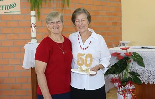 Irmã Nelcy Teresinha Zwirtes celebra 50 anos de vida consagrada
