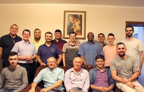 Confraternização com os seminaristas da Diocese de Caxias do Sul