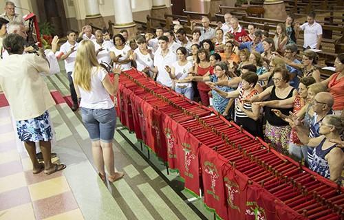 Envio das Bandeiras e da Imagem de São Sebastião Mártir em Venâncio Aires